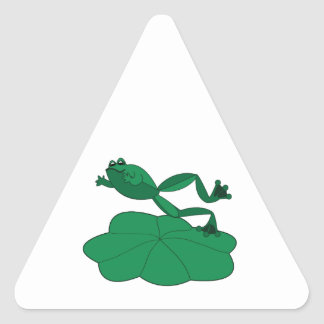 Leaping Frog Triangle Sticker
