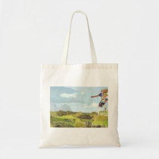 Leaping girl tote bag