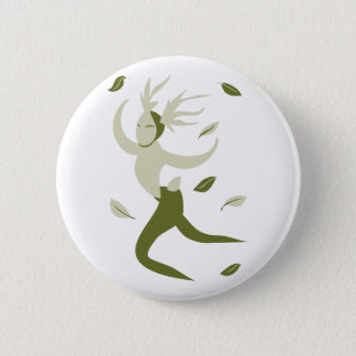 Leaping Horned God 2 Inch Round Button
