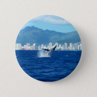 Leaping Humpback Whale Pin