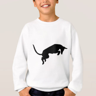 leaping ibizan hound Designed by Caroline Howlett Sweatshirt