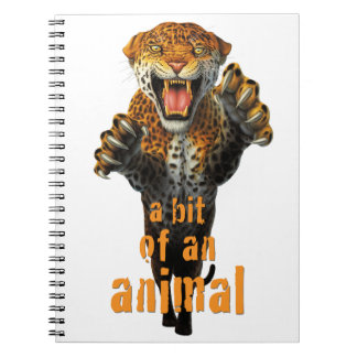 Leaping leopard - a bit of an animal spiral note book