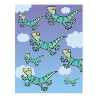 Leaping Lizards Postcard