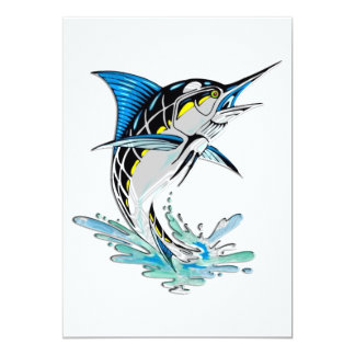 Leaping Marlin Card