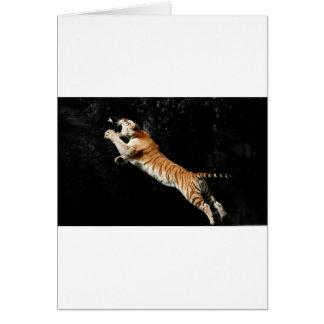 Leaping Tiger Amazing Photo Greeting Card