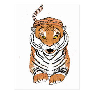Leaping Tiger products Postcard