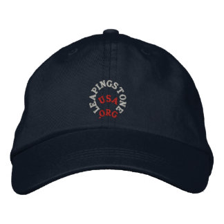 LEAPINGSTONE.ORG USA HAT EMBROIDERED HATS