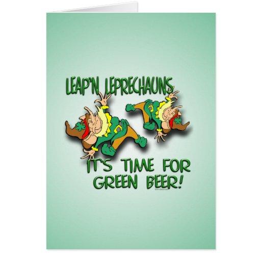 Leap'n Leprechauns Greeting Cards