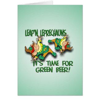 Leap'n Leprechauns Greeting Card