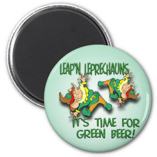 Leap'n Leprechauns 2 Inch Round Magnet
