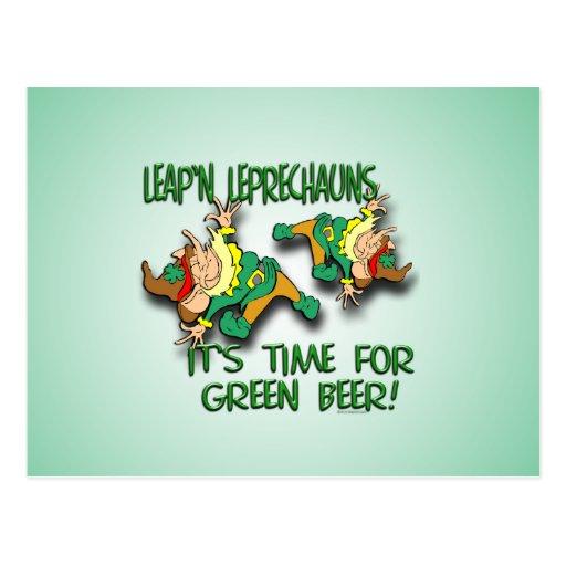 Leap'n Leprechauns Post Card