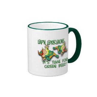 Leap'n Leprechauns Ringer Coffee Mug