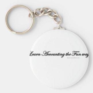 Learn accounting the fun way key chain