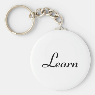 Learn Basic Round Button Keychain
