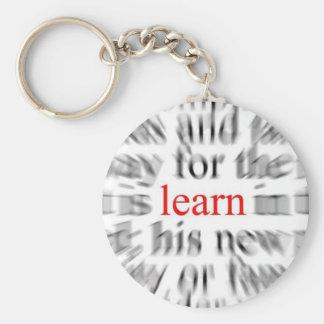 Learn Basic Round Button Keychain