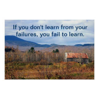 Learn from Failures Poster