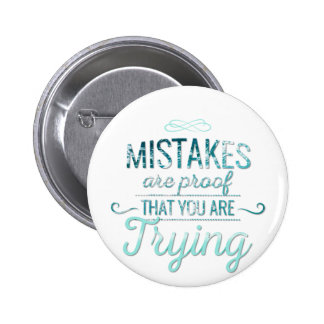 Learn from mistakes motivational typography quote 2 inch round button