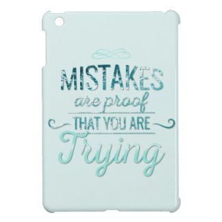 Learn from mistakes motivational typography quote iPad mini cover