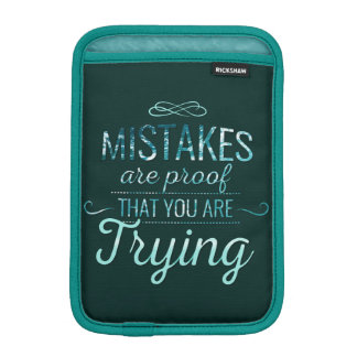 Learn from mistakes motivational typography quote iPad mini sleeve
