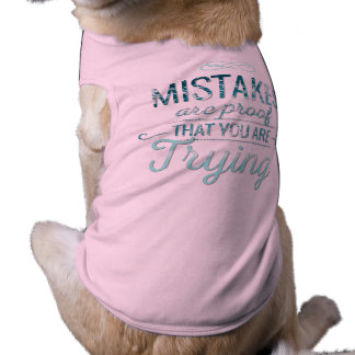 Learn from mistakes motivational typography quote shirt