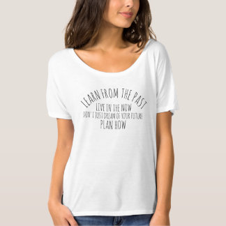 Learn from the past black text slogan shirt