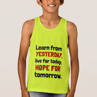"""""""Learn From Yesterday"""" Boys' Tanktop"""