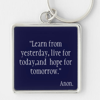 Learn from Yesterday... Key Chain