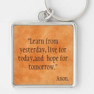 Learn from Yesterday... Keychains