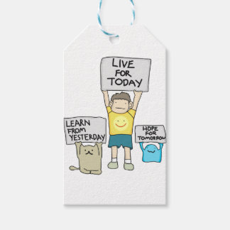 Learn From Yesterday, Live for today, Hope for Tml Pack Of Gift Tags