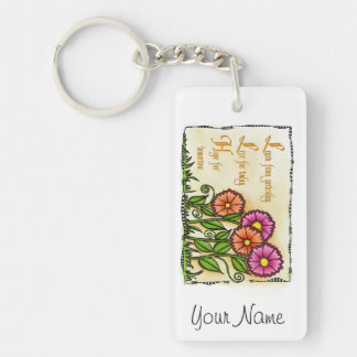 Learn From Yesterday Single-Sided Rectangular Acrylic Keychain
