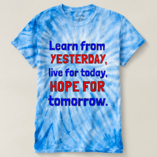 """Learn From Yesterday"" Women's Cyclone Tie-Dye T-shirt"