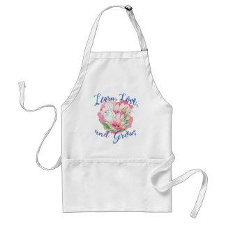 learn laugh grow beautiful flowers, flowers standard apron