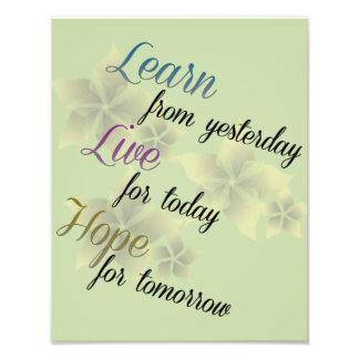 Learn Live Hope Beautiful Photo Print