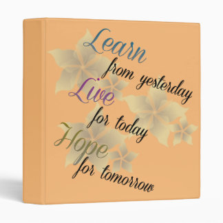 Learn Live Hope Vinyl Binder