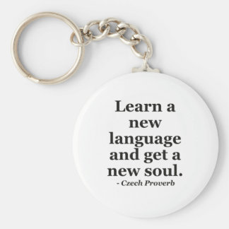 Learn new language soul Quote Key Chain