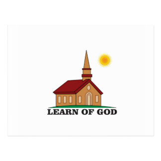 learn of god church postcard