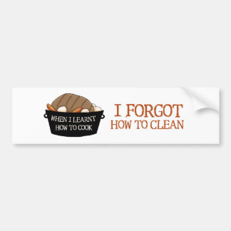 Learn to Cook Bumper Sticker