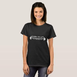 Learn to Lift Ladies - Training Black T-Shirt