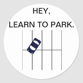 Learn to PARK Round Stickers