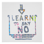 Learn to say no - Organize your life Print