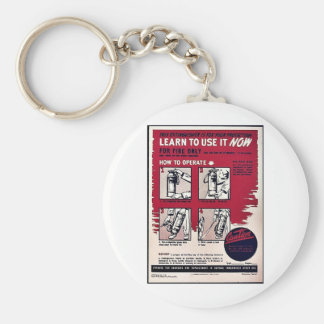 Learn To Use It Now Key Chain
