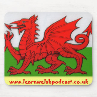 Learn Welsh Podcast Mouse Mat