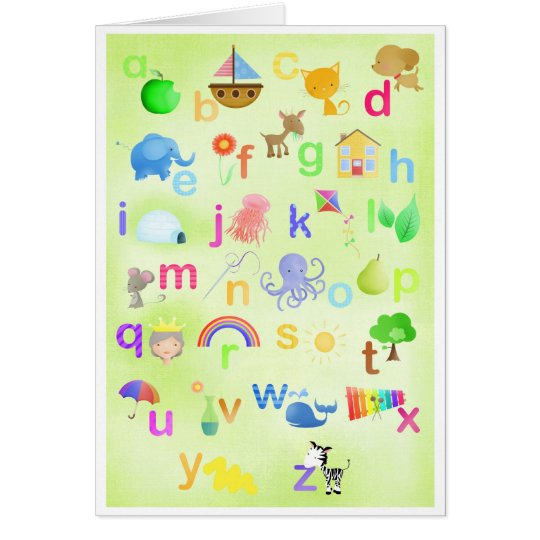 Learn your ABC - greeting cards