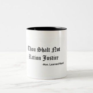 Learned Hand's Commandment Two-Tone Coffee Mug