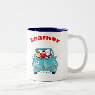 learner, driving test Two-Tone coffee mug