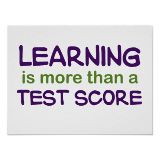 Learning is More than a Test Score Poster