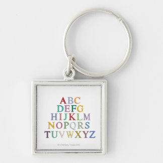 learning, letters, alphabet key chain