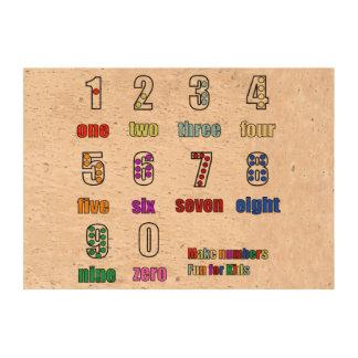 LEARNING NUMBERS FUNTIME - Make learning fun Cork Fabric