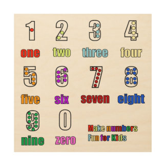 LEARNING NUMBERS FUNTIME WOOD CANVASES