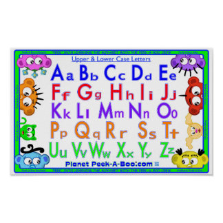 LEARNING POSTER - ABC'S WITH THE PEEK-A-BOO CREW